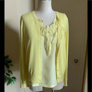 Ann Taylor sweater and blouse